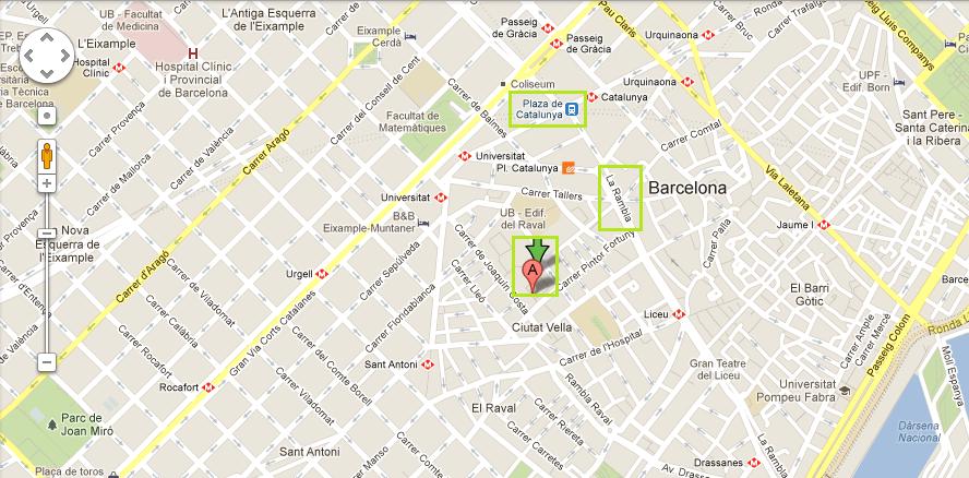 Mapa Macba Barcelona
