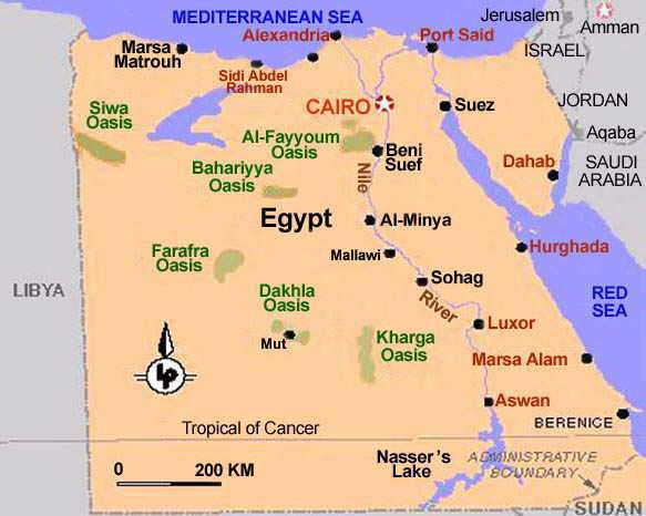 Destinations 2013 Egypt – Tourist Attractions Map In Egypt