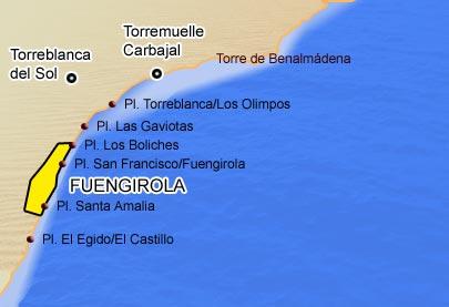 Fuengirola beaches map
